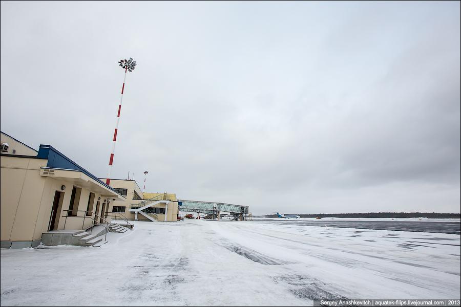 Полет на вертолете МИ-8 над Сургутом.